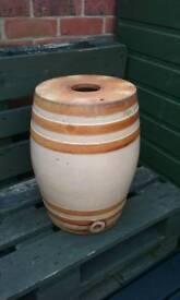 Large Stoneware Spirit Barrel