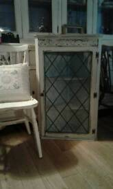 Shabby chic Wall mounted display cabinet