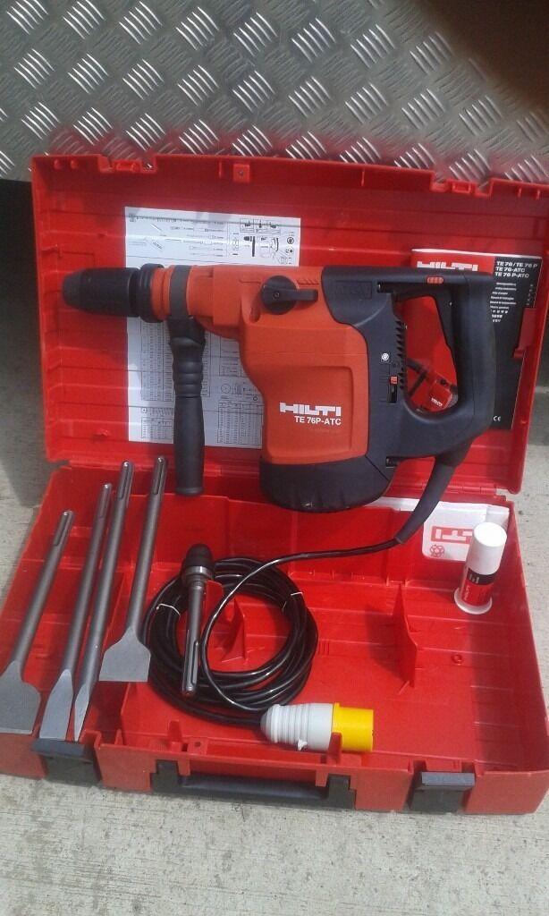 hilti te 76 p atc sds max hammer drill 110v gwo c  w chisles  case and manual in peterborough Hilti TE Series Hilti Te46