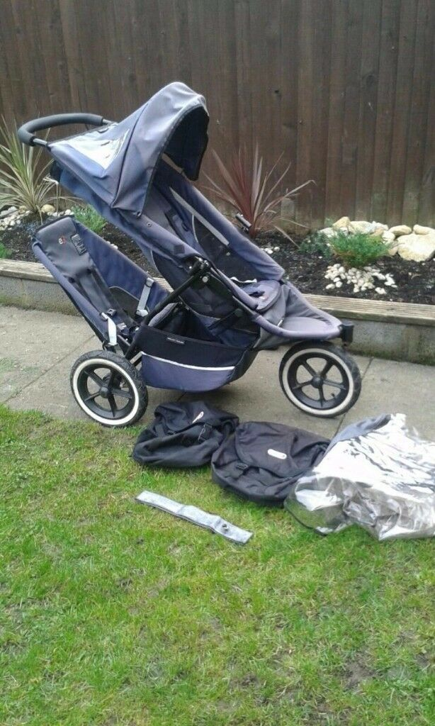 phil and teds e3 sports double pushchair, double stoller