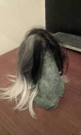 wig black&silver