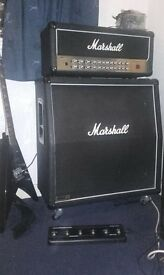 Marshall avt150 amp with 1960 4x12 speaker