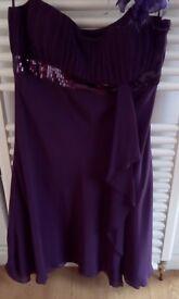 Purple Debut by Debenhams dress size 14