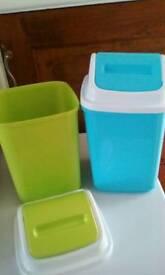 Small swing bins