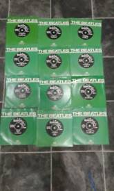 10 Beatles 1970 reissue 45 rpm records rare set in good condition
