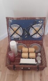 Picnic Basket with Contents (Unused)