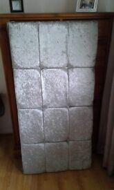 Double silver velour crushed Headboard never used