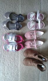 Bundle of girl's toddler shoes (7 pairs)