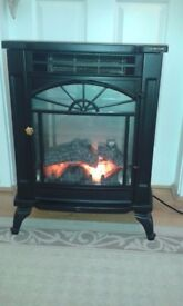 LOG EFFECT TRADITIONAL ELECTRIC FIRE WITH REMOTE CONTROL