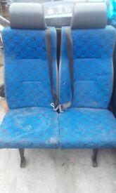 double mini bus seats