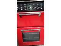 STOVES DUAL FUEL MINI RANGE COOKER OVEN- JALAPENO RED