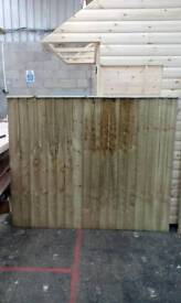 Strong treated fencing panels