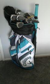 Ladies Callaway Golf Bag & Wilson Clubs