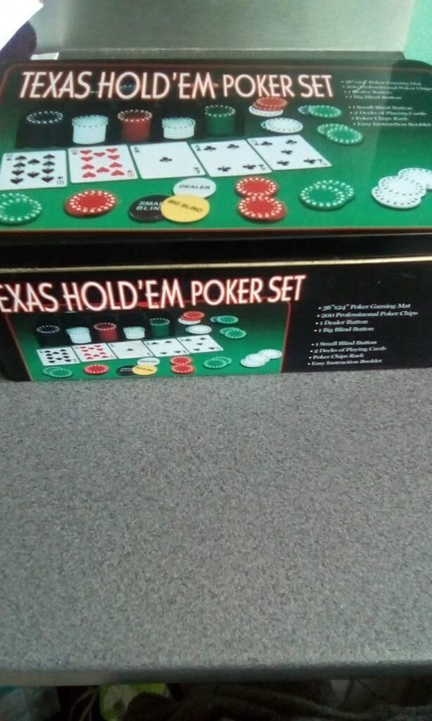 New Texas hold em poker set