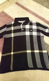 Mens burberry polo shirt