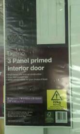 Delfino 3 panel primed internal door