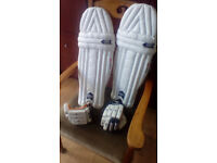 Cricket Pads Gunn and Moore Purist 505/Gloves 606 Youths