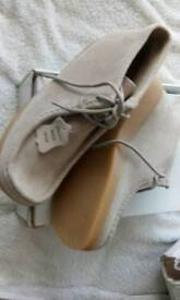 NEW TAN SUEDE BOOTS SIZE 6 BARGAIN £15