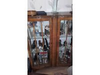 Beautiful double bow fronted display cabinet