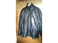 Harrods Men's black leather jacket.