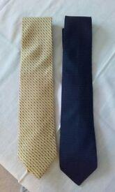 Frangi 100% Silk Gentlemen's Ties. Used but still in very good condition