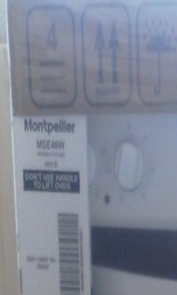 Monpellier MSE46W cooker still sealed
