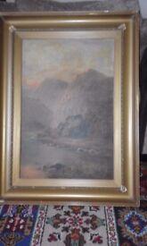 original oil on canvas john bonny, 1874-1948, signed,original frame