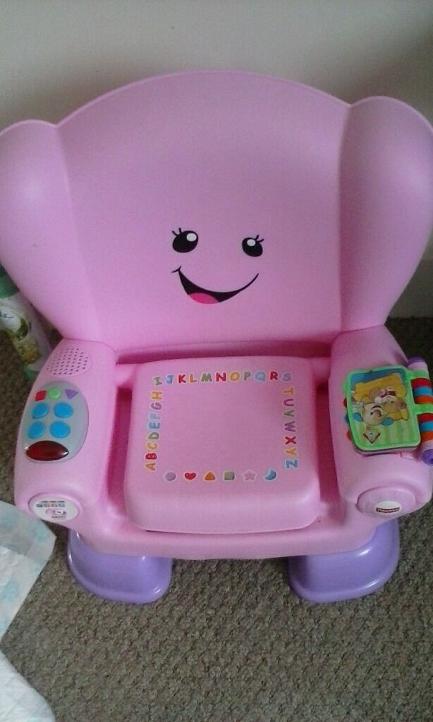 pink fisher price smart stages chair