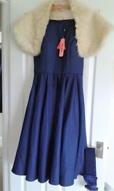 Navy Bridesmaid Evenig Party Cocktail dress Size 10