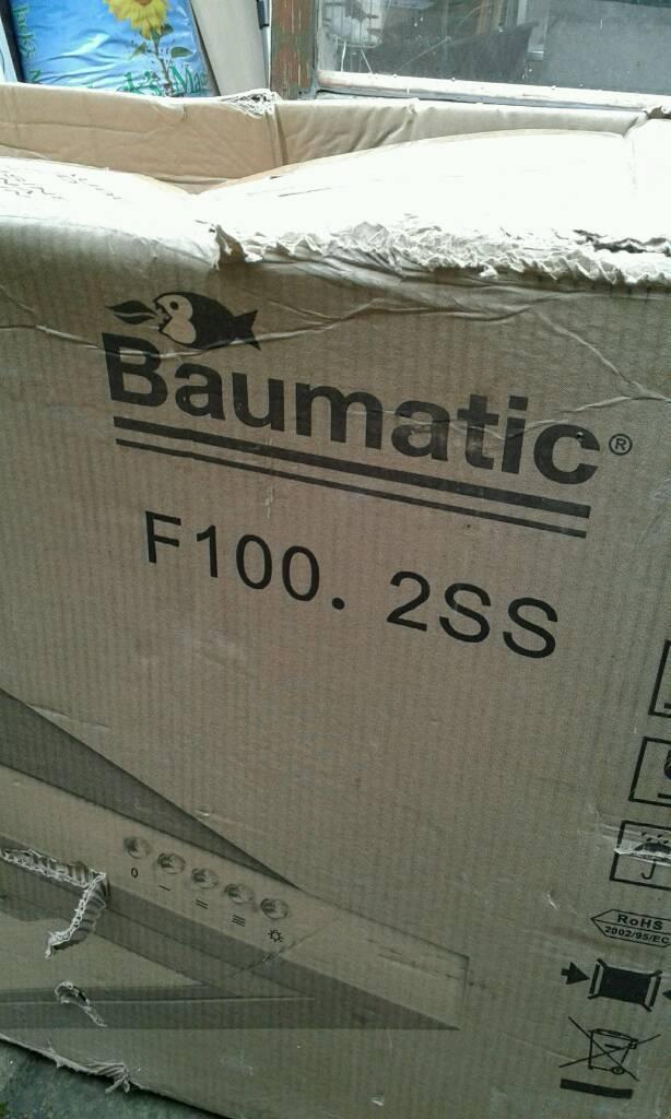 Brand new oven hood Baumatic F100 2SS