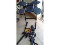 Guitar hero drums with sticks and pedal