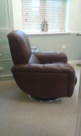 Pair swivel chairs