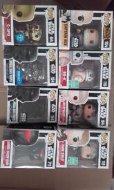 Star Wars Funko Pop Vinyl collectible figures £25 each.