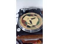 A pair of Lenco DJ turntables for sale