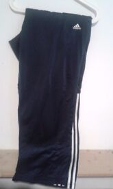 XXL Adidas Black Striped Stadium Tracksuit Bottom