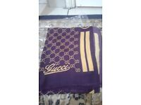 Gucci scarf, available in purple and green, brand new