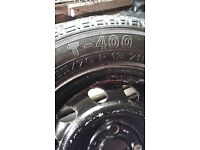 3x 165/70/13 WHEELS AND TYRES FOR SALE
