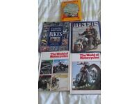 5 motor cycle books for sale