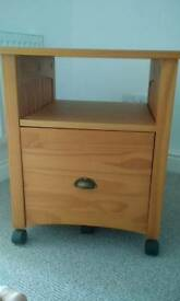 Filing unit, side table