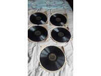 Set of 5 Brunswick 78 rpm records from the King and I