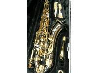Earlham professional Series black and gold tenor saxophone