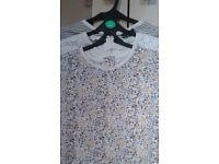 Next White/Grey/Yellow Long Sleeve T-Shirts x 3 + Black Velvet Leggings – 2-3 Years