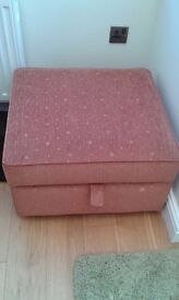 Park Furnishers 3 piece suite and large stirage footstool.
