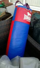 Punch bag and free standing frame very good condition ideal present