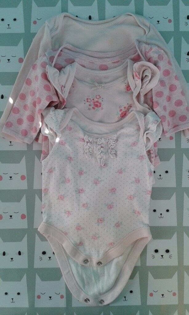 Girls 0-3 Months Short Sleeve Bodysuit Vest Bundle Bundles