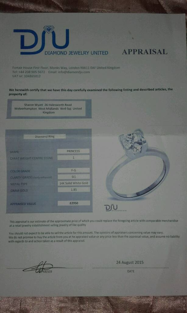 Appraisal Form for ring
