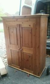 For sale chunky pine double wardrobe
