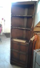 dark oak corner display unit great condition £44.00