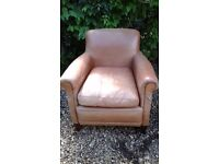 Fab Laura Ashley leather chair for fix project!