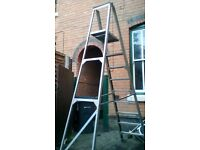 Heavy duty step ladders 7 ft tall when in position